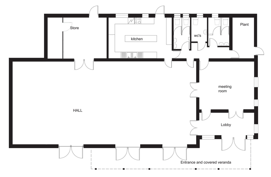 Brighter Village Hall Room Plan